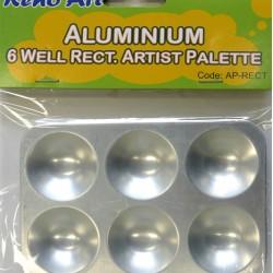 Aluminum 6 Well Round Palette