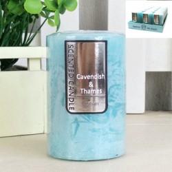 *5x7.5cm Blue Scented Rustic Candle - Ocean