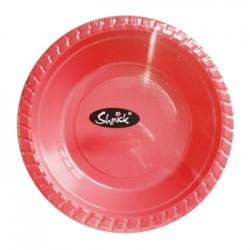 8 pk 17cm PLASTIC BOWLS (RED)