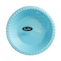 8pk 17cm PLASTIC BOWLS (BLUE)
