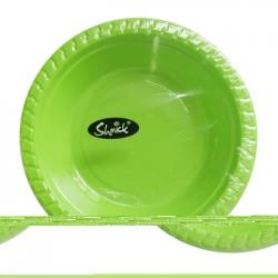 8pk 17cm PLASTIC BOWLS (GREEN)