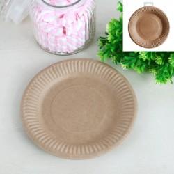 *Kraft-12pk 18cm Paper Plates
