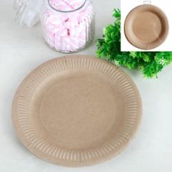 **Kraft-12pk 23cm Paper Plates