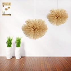 *2pk 30cm Natural Decorative Puff