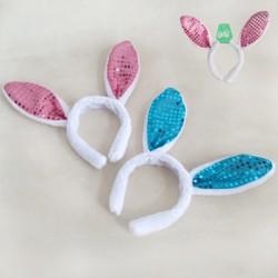 29cm Plush Sequin Bunny Ears