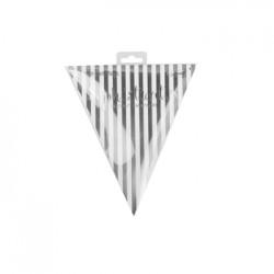 *20 Sheet Metallic Silver Style Party Flag