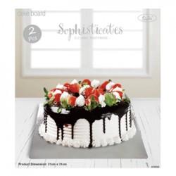 *31x31cm 2pk Cake board - Silver
