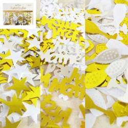 *34g Gold/Silver/White Confetti