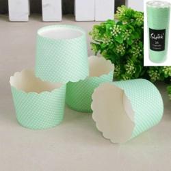 *25pk Green Kraft Paper Baking Cups