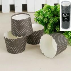 *25pk Black Kraft Paper Baking Cups