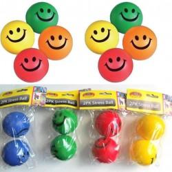 2PK Smiley Face Stress Ball