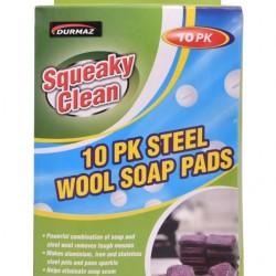 10PK Steel Wool Soap Pads