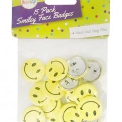Novelty Smiley Face Series Badges-15PK