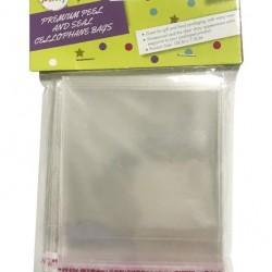 100pk Peal & Seal Cellophane Bags - 10cm x 7.5cm