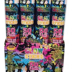 Mega Value Jumbo Glow Sticks Pack (50PK)-200MM x 5MM