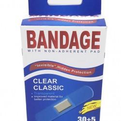 35pk Transparent Adhesive Bandages