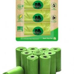 100% Eco Degradable Doggy Poo Bag Refills-3PK
