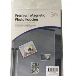 3PK Magnetic Photo Pouches