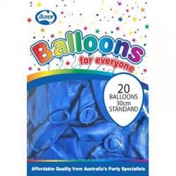 30cm Balloons Blue