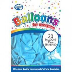 30cm Balloons Pastel Light Blue