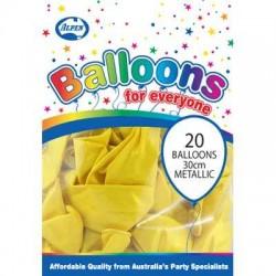 30cm Balloons Pearl Yellow