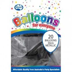 BALLOON MET P20 30CM BLACK