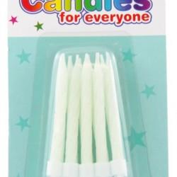 10 BIRTHDAY CANDLES WHITE