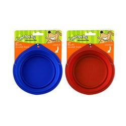 Bowl Pet Travel 2 Asstd Colours Blue Red