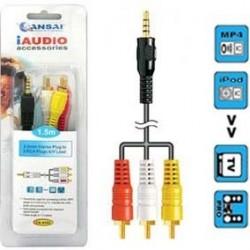 3.5mm S/Plug to 3RCA Lead 1.5m