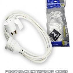 Piggy Back Plug Ext. Cord 2M