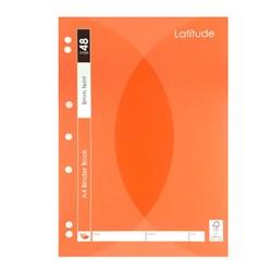 A4 BINDER BOOK 8MM FEINT 48PAGES