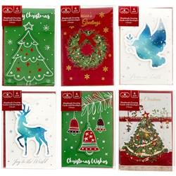 Cards Xmas Box 6 100x150mm Handmade