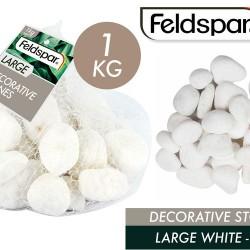 1pce White Garden Stones -Large 1kg