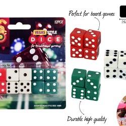12pce Vegas Dice Set-3 Colours