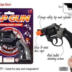 1pce Cap Gun Black