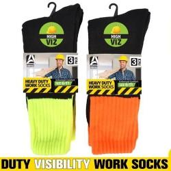 3Pair High Visibility Work Socks