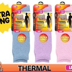 1Pair Ladies HeatIns Socks (Long) Ser1