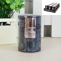 *5x7.5cm Black Scented Rustic Candle - Jasmine Noir/Neroli
