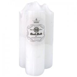 * 3PK 12.5cm WHITE TAPER CANDLE