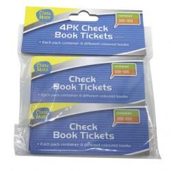 4Pk Raffle Ticket Books